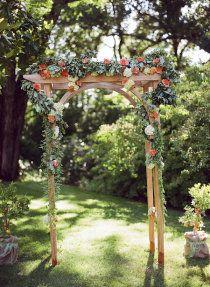 garden wedding trellis