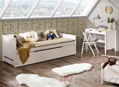 Rozkládací postel Tomi Bílá, bez matrace