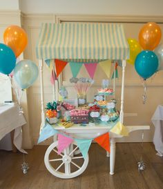 Mini candy cart from www.sweetcarolinevintage.co.uk