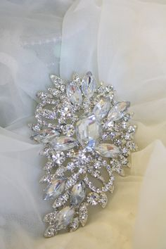 Rhinestone Brooch  Crystal Brooch  Vintage Style by AbbyPlace, $19.95