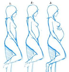 how to draw pregnant woman