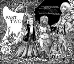 The two page spread illustration for Part Two of Protectors: Book Two of Chronicles of the Children by Kylie Leane.