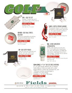 Get ready for your time on the Course with Fields. #FieldsMfg #promoproducts #golf