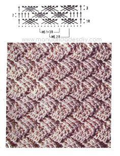 Gorro con Punto Cesta Tejido a Crochet ⋆ Manualidades Y DIYManualidades Y DIY Crochet Stitches, Shag Rug, Rugs, Diy, Stitches, Scarves, Caps Hats, Knit Basket, Hampers
