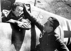 Prvá Slovenská Republika — Best friends Ján Režňák (in the cockpit) and. Luftwaffe, Me 109, Nova Era, Akashic Records, Scene Photo, Silent Film, World War, Wwii, Behind The Scenes