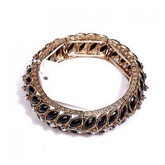 Stylish Rhinestone Faux Gem Decorated Round Bracelet For Women, AS THE PICTURE in Bracelets | DressLily.com