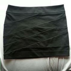 Black Bodycon Skirt thick material (good quality). Only worn once.**ALWAYS willing to negotiate the price (just make an offer!)** don't lowball. Express Skirts Mini