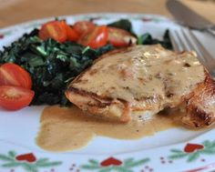 Chicken Sybil is the 'multiple personality' chicken, just pan-cooked chicken in a creamy-mustard sauce with on-hand ingredients. Text, photograph and recipe for Chicken Sybil © Kitchen Parade, All Rights Reserved.