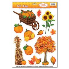 Thanksgiving Party Fall Clings (144ct)