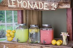Drinks at a Lemonade Party #lemonade #partydrinks