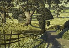 'In Lower Wensleydale' by Simon Palmer (ink, watercolour and gouache) Green Landscape, Landscape Art, Landscape Paintings, Art Advisor, Modern Landscaping, Landscape Lighting, Printmaking, Countryside, Adirondack Park