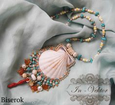 Beautiful beaded shell necklace.