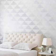 Art Deco Wall Stencils | Step Up Triangles Stencils | Royal Design Studio