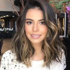 Long Wavy Ash-Brown Balayage - 20 Light Brown Hair Color Ideas for Your New Look - The Trending Hairstyle Brown Ombre Hair, Brown Blonde Hair, Ombre Hair Color, Brown Hair Colors, Dark Hair, Blonde Hair To Brunette, Ombre On Short Hair, Long Short Hair, Short Curled Hair