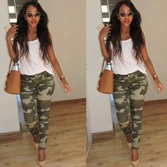 Camping Outfits For Women Summer Casual Camo Pants 19 Ideas For 2019 Camo Pants Outfit, Camo Outfits, Style Outfits, Mode Outfits, Casual Outfits, Fashion Outfits, Camping Outfits, Camo Dress, Camo Jacket