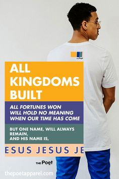 All Kingdoms Built - Unisex Tee Christian Apparel, Christian Clothing, Christian Shirts, Hope Scripture, Faith Verses, Quote Tshirts, Youth Groups, Urban City, Christian Faith