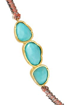 Brooke Gregson Rivera 18-karat Gold, Tourmaline And Sapphire Necklace