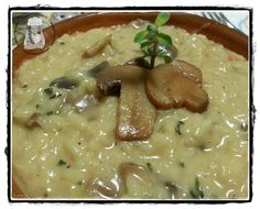 Desperate House Cooker: Risotto allo spumante rosé in crema di funghi  Risotto with Pink Sparkling Wine and mushrooms cream