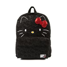 Shop for Vans Hello Kitty Backpack in Black at Journeys Shoes. Shop today for the hottest brands in mens shoes and womens shoes at Journeys.com.Canvas Hello Kitty backpack from Vans features all over Kitty graphics, face print with 3D sequined bow, two zippered compartments, and adjustable shoulder straps.