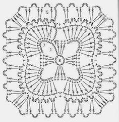 Ivelise Feito à Mão: Festival De Squares! Unit crochet pattern