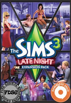 The Sims 3 Late Night Expansion Pack (PC&Mac, 2010) Origin Download Region Free