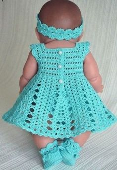 Crochet Doll Dress Crochet Doll Clothes Knitted Dolls Baby Born Clothes Pet Clothes Crochet Boots Baby Girl Crochet Crochet For Kids Baby Dolls Crochet Baby Dress Pattern, Crochet Doll Dress, Baby Dress Patterns, Baby Girl Crochet, Crochet Doll Clothes, Baby Knitting Patterns, Pattern Dress, Baby Sweaters, Baby Girl Dresses