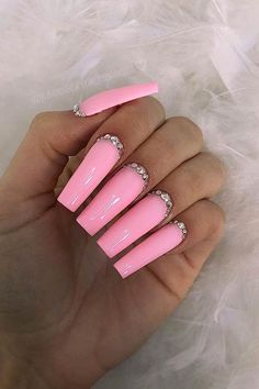 23 Ways to Wear Popular Square Acrylic Nails French Tip Acrylic Nails, Black Acrylic Nails, Simple Acrylic Nails, Best Acrylic Nails, Acrylic Nail Designs, Long Square Nails, Tapered Square Nails, Long Square Acrylic Nails, Lavender Nails
