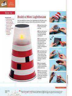 FamilyFun - August 2011 - Page 26--Make a Mini Lighthouse