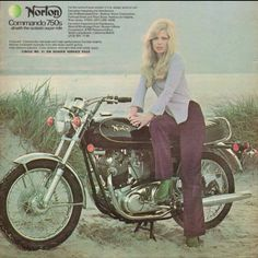 Norton Commando 750, my brother owned this bike. We went on many bike rallies on it! A beautiful bike!