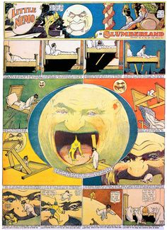 Winsor McCay's Little Nemo in Slumberland.  (Possibility of creating journal pages in the format of old print cartoons.  What happens if the images are not necessarily sequential?)