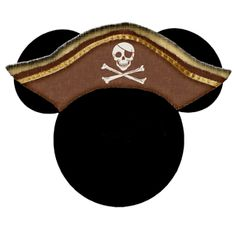 Printable pirate mickey head