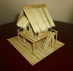 Model of Vietnamese Stilt House Winter Crafts For Kids, Art For Kids, Kids Crafts, Stem Projects, Projects For Kids, Anderson Shelter, Different Types Of Houses, House On Stilts, Pet Water Fountain