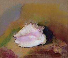 pastels_The Shell Pastel by Odilon Redon