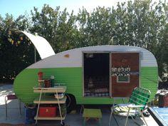 1940's Teardrop  vintage travel trailer camper