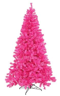 Hot pink Christmas tree with black decorations :)