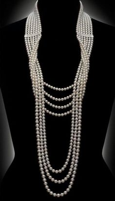 Weddbook is a content discovery engine mostly specialized on wedding concept. You can collect images, videos or articles you discovered  organize them, add your own ideas to your collections and share with other people - Mikimoto diamond and pearl necklace. #pearl