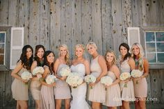 taupe bridesmaid dresses short mismatch - Google Search