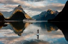 Stand up paddling in Milford Sound.  Looks fabulous!  From newzealand.com