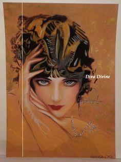 Décoration Vintage Portrait  VICTORIA  Pastel par DivaDivinePastel