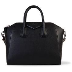 GIVENCHY Antigona Medium Bag (392.270 HUF) ❤ liked on Polyvore featuring bags, handbags, bolsos, purses, hand bags, leather handbag purse, 100 leather handbags, real leather purses and leather bags