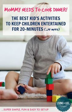 The Best Kid's 20-Minute Activities that are simple, entertaining and easy to set-up in a pinch. These 20-Minute Activities let kids play quietly and independently so parents can take a break, cook dinner or household tasks uninterrupted.