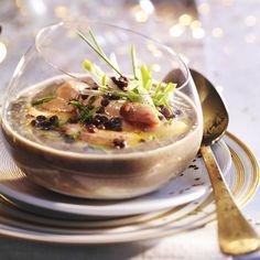 Velouté de lentilles au foie gras - entrée de Noël