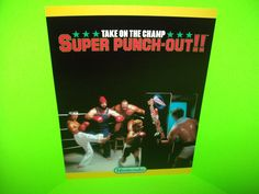 Nintendo SUPER PUNCHOUT Original NOS 1984 Video Arcade Game Promo Flyer RARE…