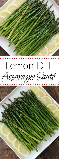 Lemon Dill Asparagus Sauté, vegetable side dish recipe perfect for spring! Easy to make and delicious thanks to @countrycrock ! SnappyGourmet.com (sponsored)