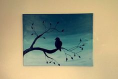 My go at the 'bird on a branch' painting