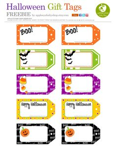 Free halloween printables gift tags halloween printable and all sizes free printable halloween gift tags by apple eye baby shop flickr negle Image collections