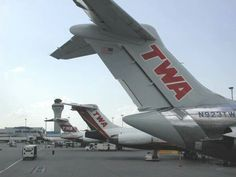 Last three liveries of TWA - Trans World Airlines