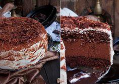 My man's kitchen...: Tort z musem czekoladowym