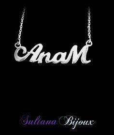 Colier din argint 925 personalizat cu numele AnaM Detalii pe: http://www.sultanabijoux.com/urundetay.php?urunID=1360&grupID=29&colier-argint-personalizat-anam