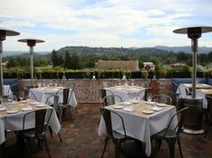 Grab lunch and enjoy this breathtaking view at The Thomas on Main Street in Napa, CA